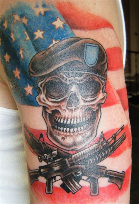 coolest cross army flag and cool army skull flag and guns venice