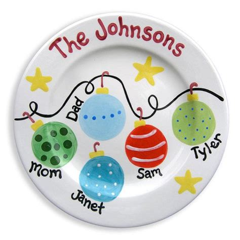 christmas family plate personalized ceramic plate hand