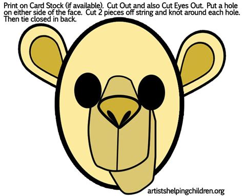 printable camel mask template sunday school lessons for kids finding a bride for isaac