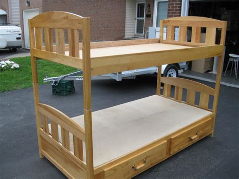 Maple Bunk Bed Maple Bunk Beds With Bottom Drawers Solid Maple Orleans Ottawa