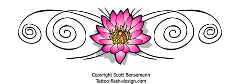 lotus flower tattoo designs free pink lotus flower design with spirals