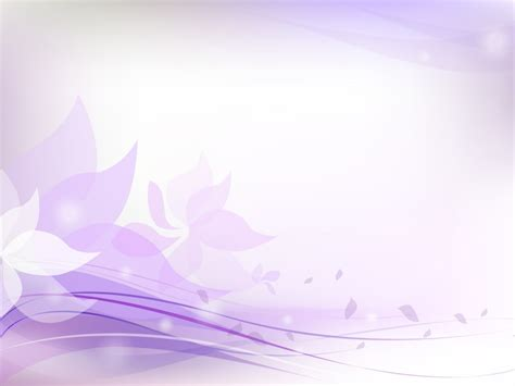 Light Purple Floral Backgrounds Colors Flowers Purple White Templates Free Ppt Grounds Purple Powerpoint Templates