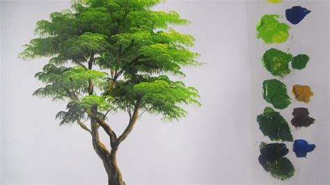 acrylic paint trees how to paint a tree in acrylics lesson 5 viyoutube
