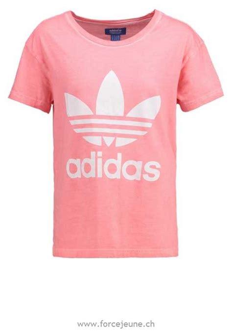 T Shirt Adidas Pink adidas originals print t shirt pink print t