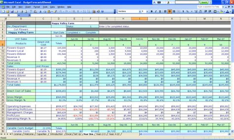 how to create a spreadsheet for budget spreadsheets