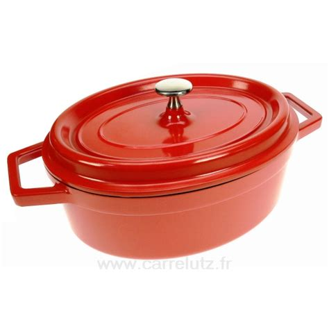 cuisine cocotte en fonte cocotte en fonte d aluminium ovale 26x20 cm 25927 lacor