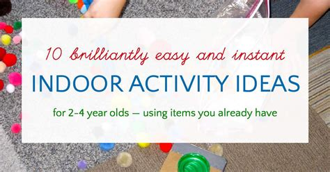 quick  easy activities    year olds