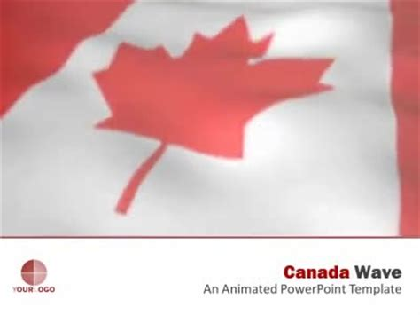 Canada Flag A Animated Powerpoint Template From Presentermedia Com Canada Powerpoint Template