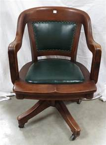 Antique Wooden Desk Chair On Wheels Antique Wood And Leather Office Chair On Wheels
