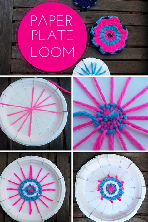 Paper Plate Weaving Craft - finding bonggamom how to weave an american doll rug