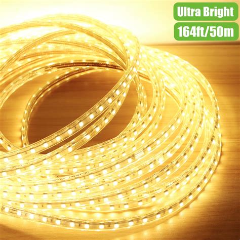 110V Flexible LED Strips 50M Warm White Waterproof Led Outdoor Christmas Lights LE®