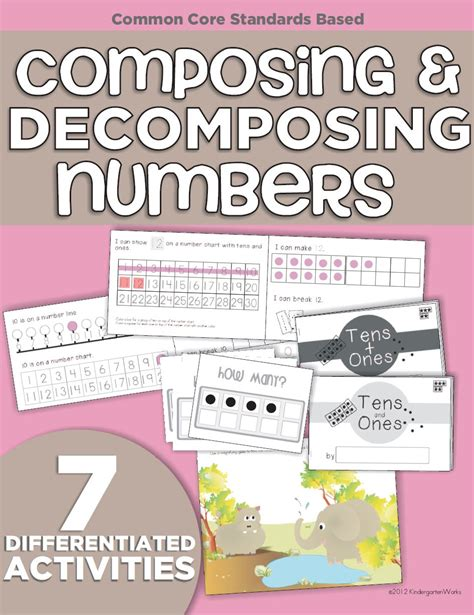 Composing And Decomposing Numbers Worksheet Grade by Composing And Decomposing Numbers A Guided Math Lesson