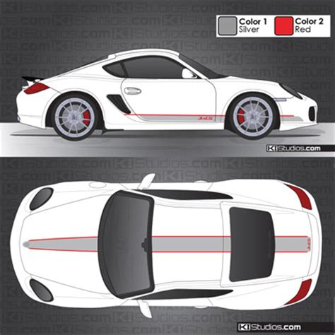 Porsche Sports Cup Aufkleber by Ki Studios Stripes In 2 Colors For Porsche 987 Cayman S