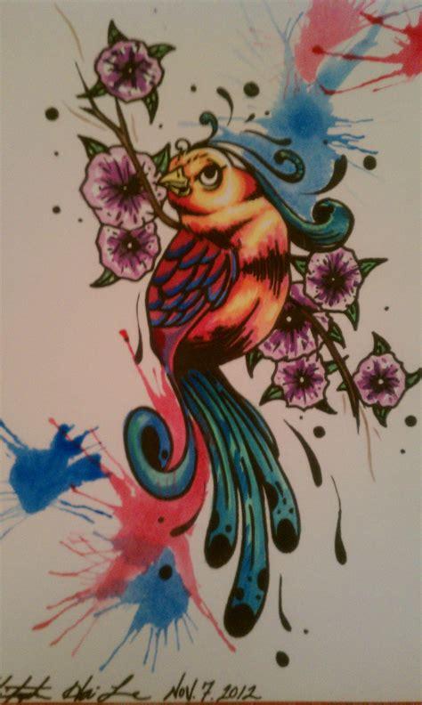 art tattoo school new school bird www imgkid the image kid