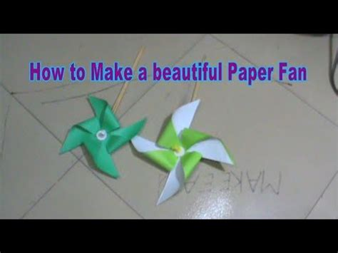 How To Make A Paper Fan Easy - how to make a beautiful paper fan for make easy