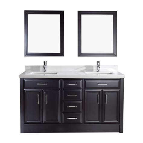 Studio Bathe Calais 63 In Vanity In Espresso With Solid Surface | studio bathe calais 63 in vanity in espresso with solid