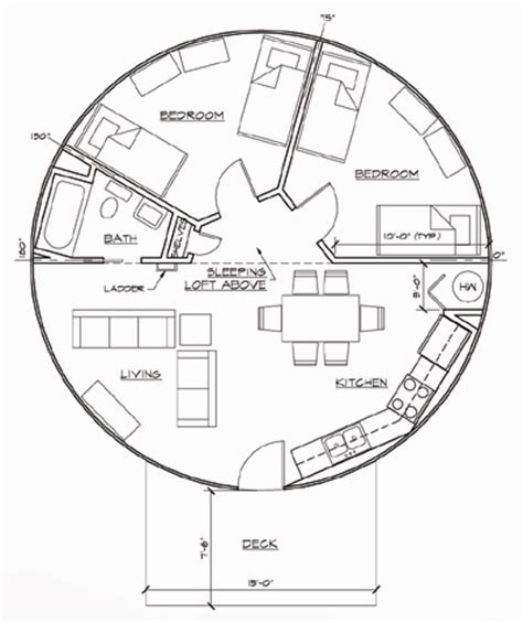 yurt floor plans interior robert juris associates architects