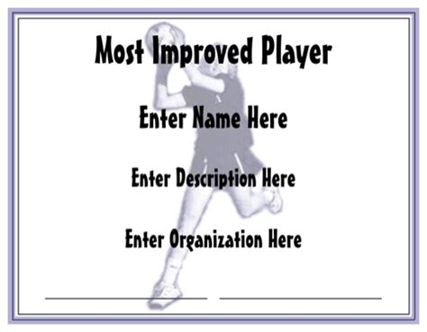 netball certificate template netball sports certificates for free formtemplate