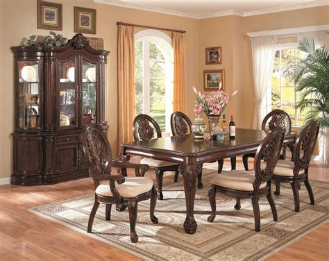 formal dining room set with leg table
