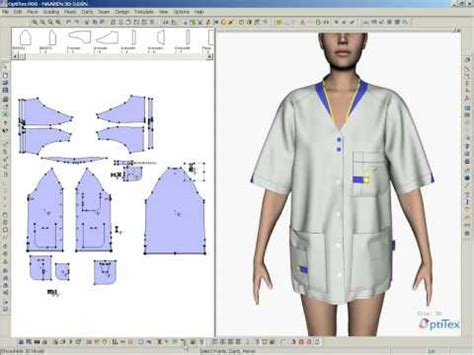 pattern maker online clothing optitex software stitching proces4 youtube