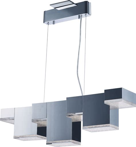 kitchen island light fixtures et2 e24466 160pc pizzazz contemporary polished chrome led