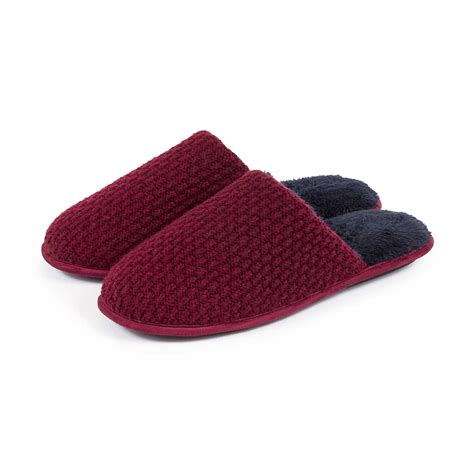 tote slippers totes mens textured mule slippers ebay