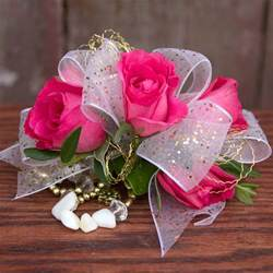 Pink Rose Corsage Pink Rose White Ribbon Corsage Flowers From The Heart