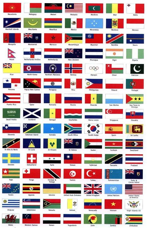 flags of the world by colour commonwealth flag