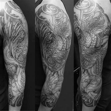 japanese phoenix tattoo half sleeve gentleman with phoenix japanese half sleeve with shaded