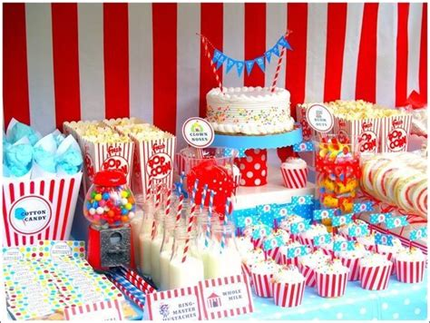 circus theme decor southern blue celebrations circus ideas
