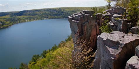 devils lake climbing guides travel wisconsin