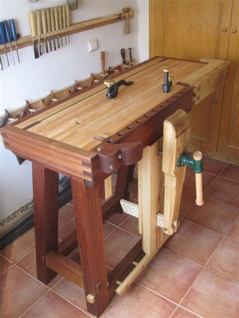 fine woodworking bench this is my newest workbench i offer custom made to anyone