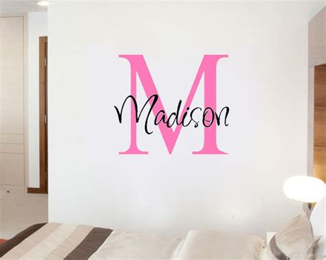 monogrammed home decor custom personalized name girls boys say quote word