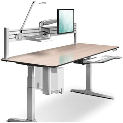 workrite ergonomics adjustable desk manual rectangular sierra hx electric height adjustable