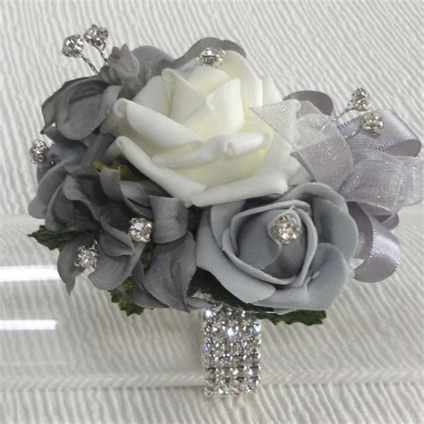 Corsage Black Grey the floral touch uk wrist corsages prom corsage wrist corsage for proms