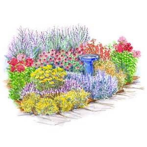 Perennial Flower Garden Layout No Fuss Garden Plans Gardens Backyards And Deer