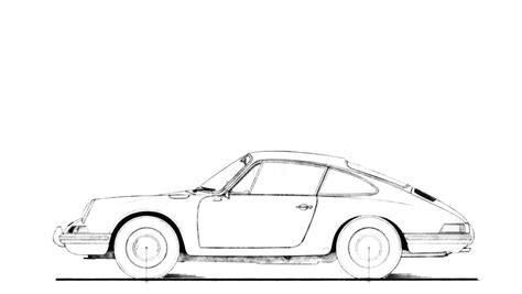 Porsche 911 Sketches by E 233 N Icoon Vier Designers
