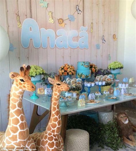 Candice Shower by Candice Swanepoel Celebrates At Safari Themed Baby Shower