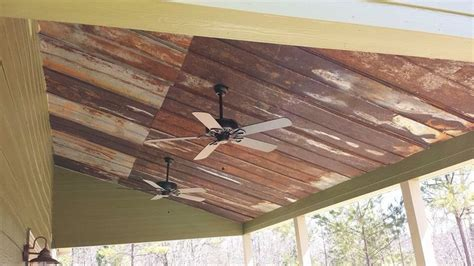 Tin Roof Ceiling by Barn Wood Tin On Bathroom Ceiling Images Frompo