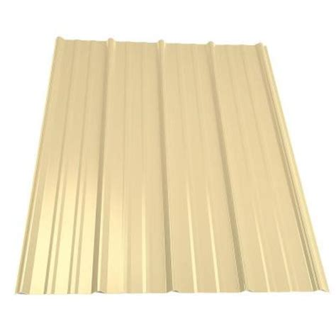 metal sales 12 ft classic rib steel roof panel in light