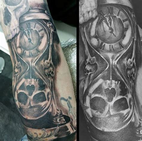 hourglass skull tattoo designs 60 hourglass designs for passage of time