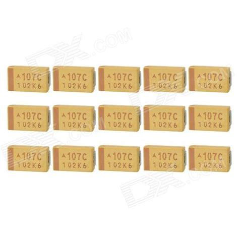 100uf tantalum capacitor smd avx 7343 smd 100uf 16v type d tantalum capacitors yellow 15 pcs free shipping dealextreme