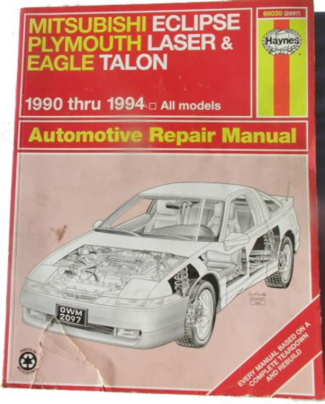 auto repair manual online 1994 eagle talon lane departure warning haynes mitsubishi plymouth eagle automotive repair manual