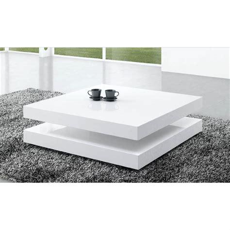 TABLE BASSE LAQUÉE BLANC CHARLENE   Achat / Vente table