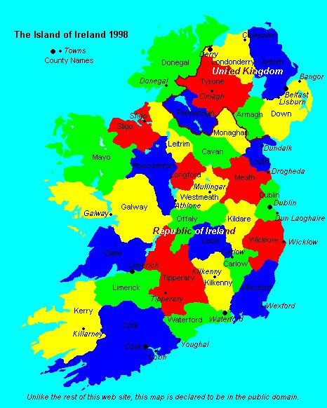 ireland county map counties and provinces of ireland