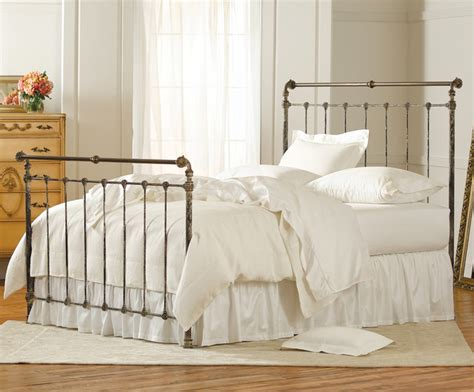 iron sleigh bed iron brass sleigh bed vintage white traditional