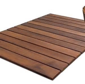 Bathroom Rug 2 Ft X 3 Ft Non Slip Wood Mat