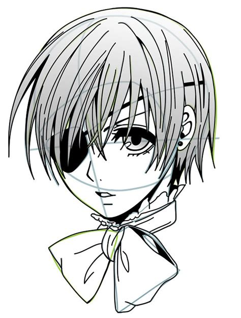 doodle drawing tutorials how to draw ciel phantomhive diy drawing