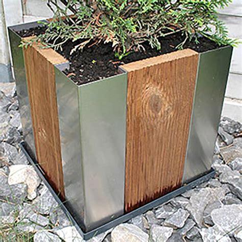 Gartendeko Holz Edelstahl