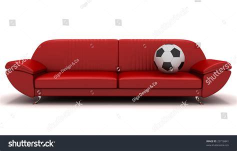 soccer sofa soccer and sofa stock photo 25716841